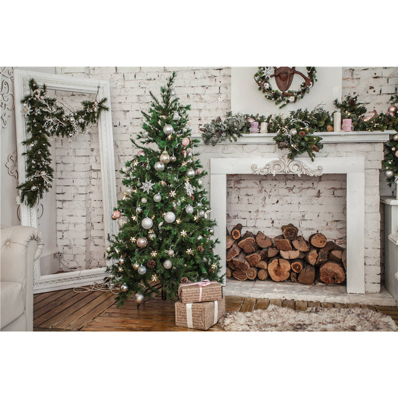 Mayitr 5x7ft Vinyl Xmas Tree Photography Background Computer Printed  Christmas Backdrops Fit For Photo Studio Props white 3d decorations xmas tree hall fireplace room backdrops vinyl cloth computer printed christmas photo studio background