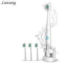 220V A39Plus-2 Wireless Charge Electric Toothbrush Rechargeable Ultrasonic Sonic Electric Tooth Brush 4 Replacement Brush Heads