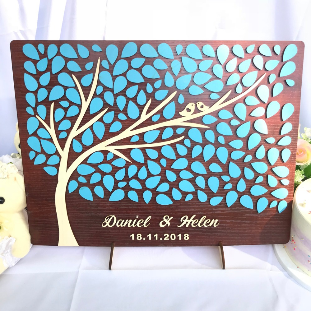 Alternative Wedding Gifts: Personalized Wedding Guest Book 3D Wood, Wedding Gifts For