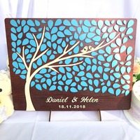 Personalized Wedding Guest Book 3D Wood, Wedding Gifts For Guests, Rustic Alternative Guest Book Ideas, Custom Guest Book Tree