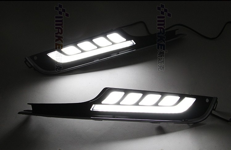Free Shipping Car Styling GOLF7 LED Daytime Running Light for VW GOLF 7 2013-2014 LED DRL SIGNAL FOG LAMP Daytime Driving Light auto car led white drl driving daytime running light fog lamp daylights for hyundai ix35 2014 2017 2pcs free shipping d35
