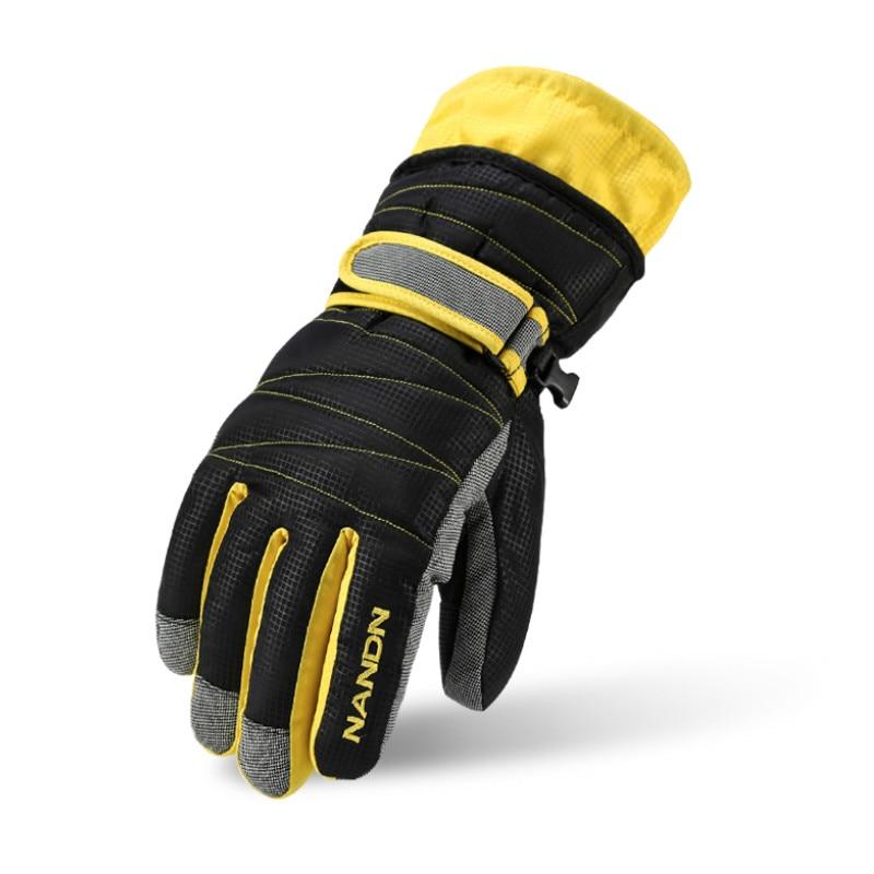 NANDN Winter Outdoor Sports Ski Snowboard Snow Glove Adult Children Skiing Gloves Windproof Waterproof Riding Warm Cotton Gloves