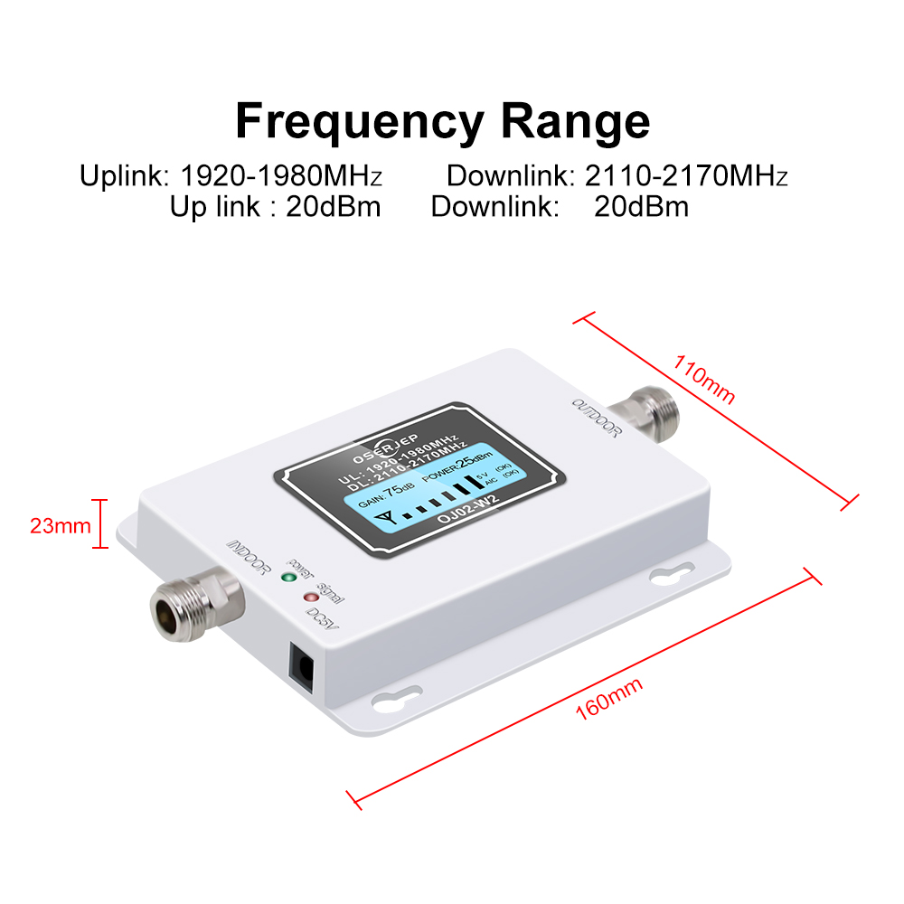 LCD display 3G mobile Signal booster 2100mhz WCDMA Repeater 3g cellular signal booster amplifier Amplifier + LPDA /Panel Antenna-in Signal Boosters from Cellphones & Telecommunications    2