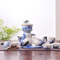 Творческий эмаль автоматический Чай комплект дельфинов модели кунг фу Чай набор мультфильм милый Керамика Чай комплект быстро POST