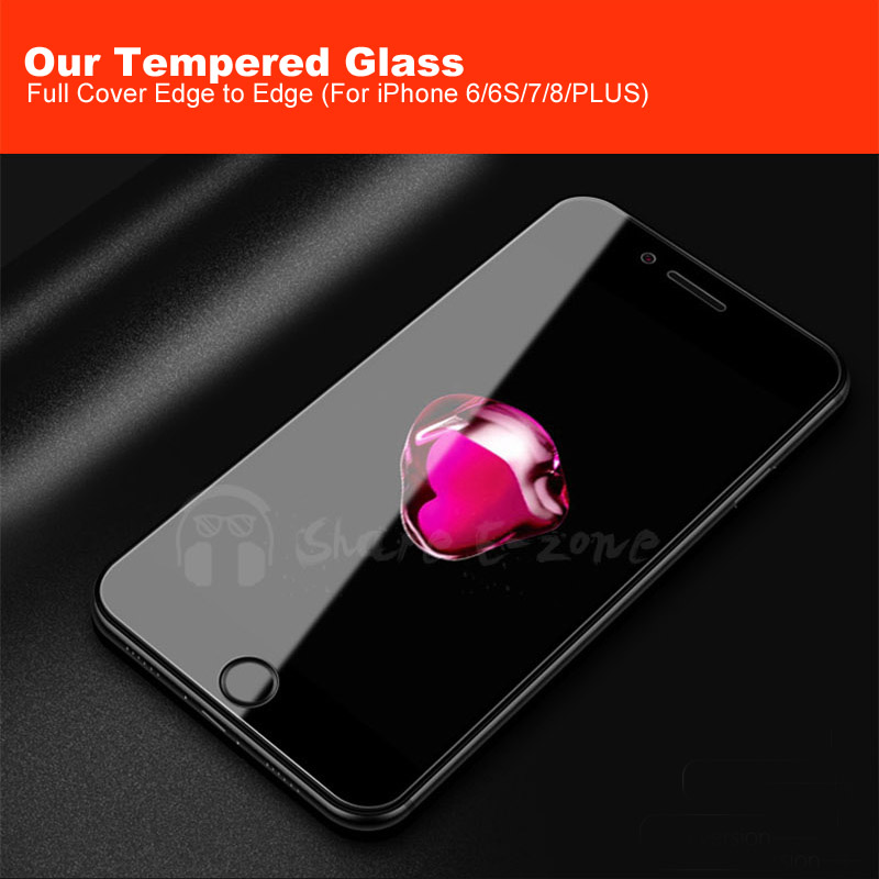 Shareezone 9H full Cover Tempered Glass for iPhone 7 8 6 6s plus X Anti Blue Light Screen Protector for iPhone 7 8 6 6s 10 Glass (13)