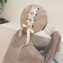 MAXSITI U чистый цвет шерсть берет женский Зимний Лук Дизайн Винтаж художника тёплая шапка