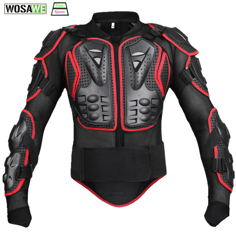 WOSAWE Cycling Body Armor Protection Jacket MTB Riding Mountain Bike Jacket Strong Elbow pad Chest Protect