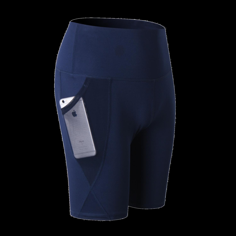 Kobiety kompresji joga Fit mocno noc odblaskowe wysokiej talii elastyczna krótki kobiety legginsy sportowe z kieszeniami Jogger Legings