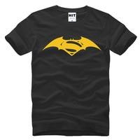 Movie Batman vs Superman Logo Novelty của Men In T-Shirt T Shirt Men 2016 Short Sleeve O Cổ Bông Top Tee Camisetas Hombre
