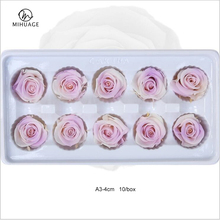 MiHua Ge 10Pcs 3-4CM Rose Flowers Artificial Preserved Eternal Wedding Party Decor Valentines Day Gifts Flower