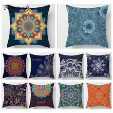 Fuwatacchi Floral Bohemian Home Decor Cushion Cover Vintage Mandalas Geometric Printed Pillow Cover Chair Sofa Pillow Case