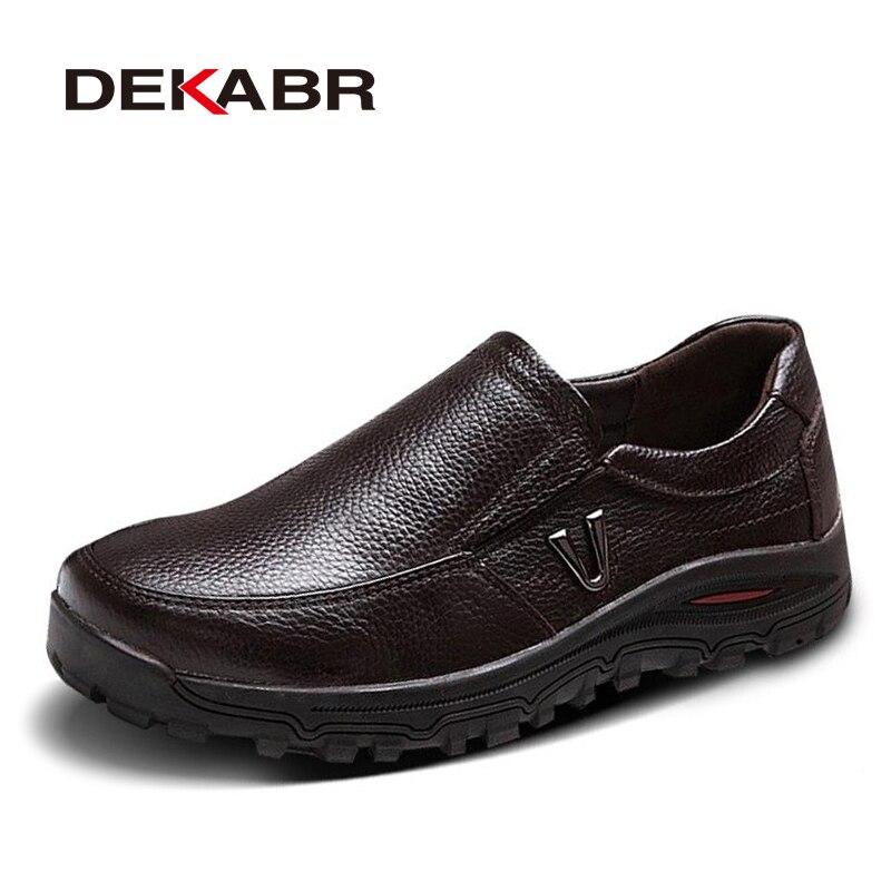 a1f218bced09 DEKABR/мужские туфли из натуральной кожи; Деловое платье Мокасины на  плоской подошве без застежки