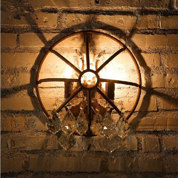 Vintage Industrial Metal Wall Sconce Lamp Retro Rustic Bar Pub Art Deco Rust Light Fixture