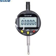 Электронный цифровой микрон индикатор 0,001 мм 0-10 мм цифровой Циферблат Манометр 0,001 мм измерительные приборы индикатор
