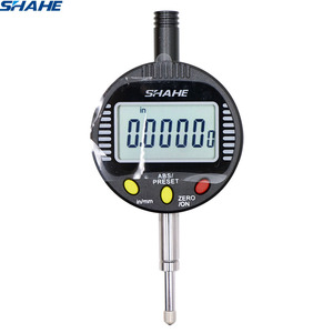 shahe Electronic Digital Micron Indicator 0.001 mm 0-10 mm digital dial gauge 0.001 mm measuring instruments indicator