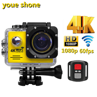 youe shone Wifi Sports Action Camera Outdoor Cycling Surfing Waterproof Cameras1080p 60fps kamera Helmet bike record Diving Cam