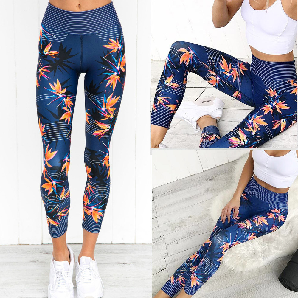 Womail Brand High Quality Tights Women High Waist Sports Gym Yoga Running Fitness Leggings Pants Athletic Trouser