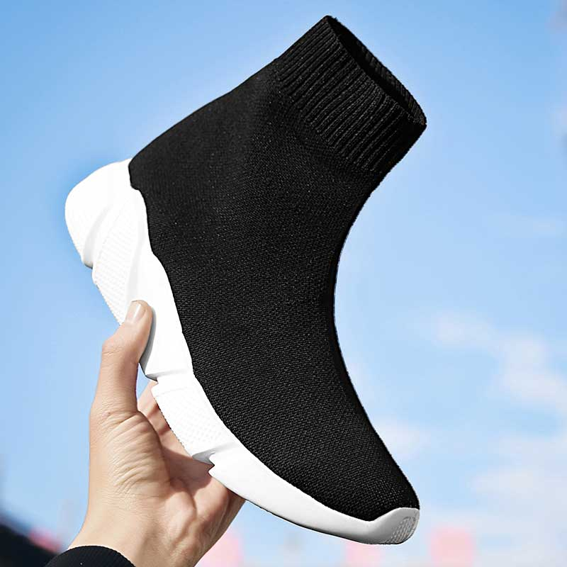 Designer Women Socks Sneakers High Top Sports Shoes Female Trainers Breathable Casual Shoes Ladies Slip On Summer Basket Femme