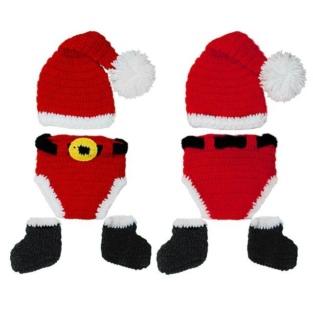 Navidad sombreros de bebé de punto sombrero hecho punto de la ...
