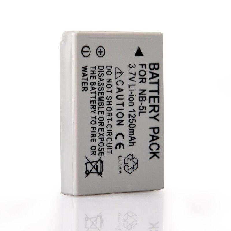1Pcs 1200mAh NB-5L NB 5L Camera Battery For Canon SX200is SX210IS SX220HS SX230HS CB-2LXE S100 S110 SD950 SD970 SD990