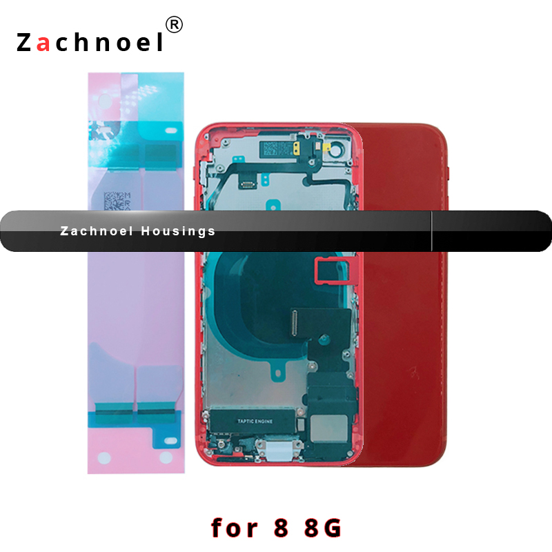 Full Back Housing for iPhone 8 Plus 8Plus Cover Battery Door Case Middle Frame Chassis Body with Flex Cable Replacement PartsFull Back Housing for iPhone 8 Plus 8Plus Cover Battery Door Case Middle Frame Chassis Body with Flex Cable Replacement Parts