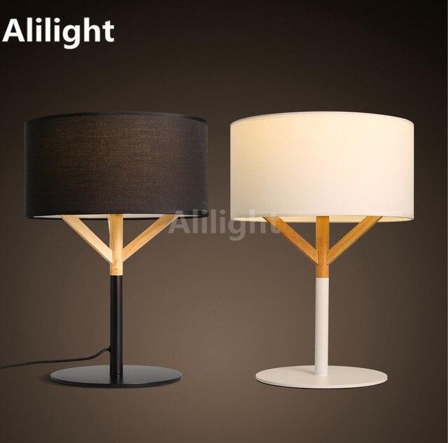 Nordic Mode Tischlampe Tuchkunst Aus Holz Nachttischlampe