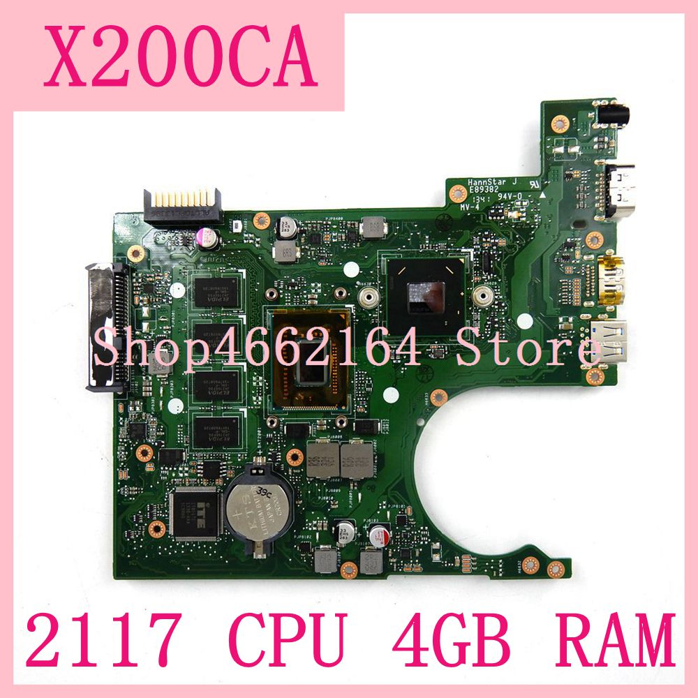 X200CA mainboard 2117 CPU 4GB RAM REV2 1 X200CA notebook motherboard For ASUS X200CA X200CAP Laptop