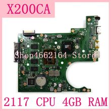 X200CA  mainboard 2117 CPU 4GB RAM REV2.1 X200CA notebook motherboard For ASUS X200CA X200CAP Laptop Motherboard 100% Test work