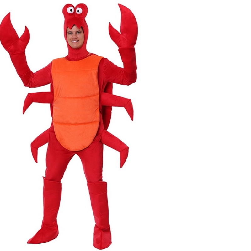 Mens Red Crab Sea Lobster Animal Stag Hen Party Fancy Dress Costume Outfit
