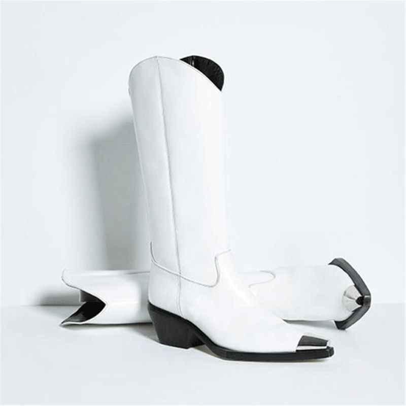 ASUMER Artı Boyutu 34-43 Yeni 2020 kadın Çizmeler, Metal Sivri Burun Sonbahar Kış Çizmeler Moda Punk Woemn motosiklet Çizmeler Yarım