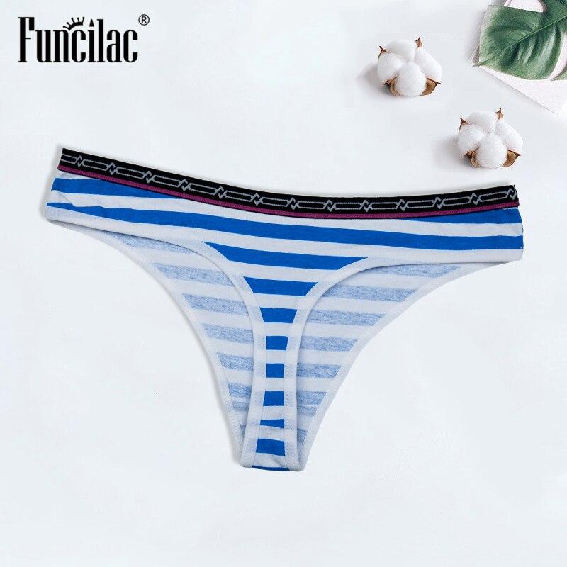 Sexy Thong Cotton Women's   Panties   G-String T-back Female Underwear Briefs Lingerie Ladies Bikini Low Waist Knickers FUNCILAC