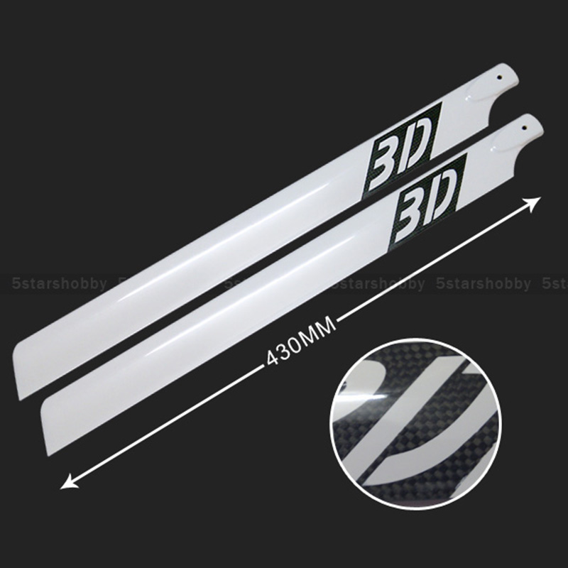 430mm Carbon Fiber Main Rotor Blades for Trex T-rex 500 Helicopter tarot 500 dfc main shaft 500 helicopter parts for t rex 500 tl50086
