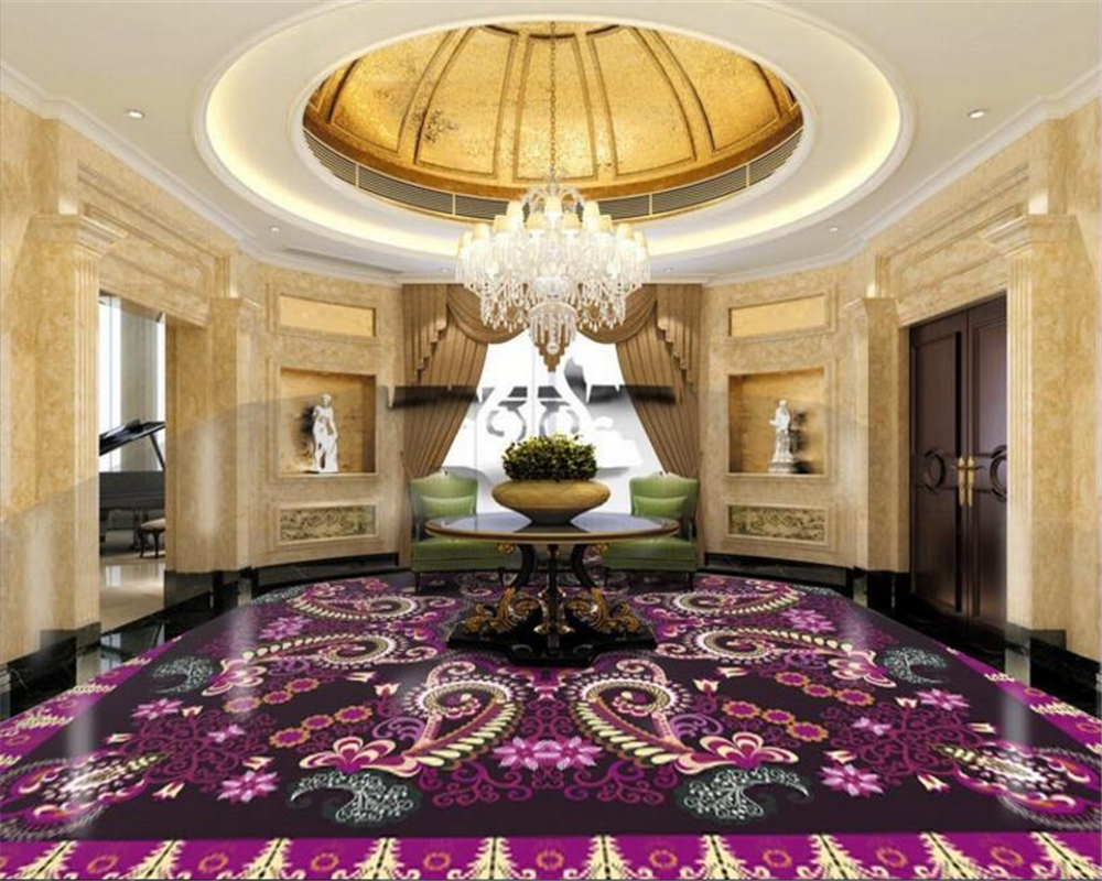 beibehang Custom fashion three-dimensional wall paper charm European personality gorgeous parquet floor ceiling 3d wallpaper beibehang custom wall paper 3d white european carved blue sky white clouds ceiling ceiling murals background