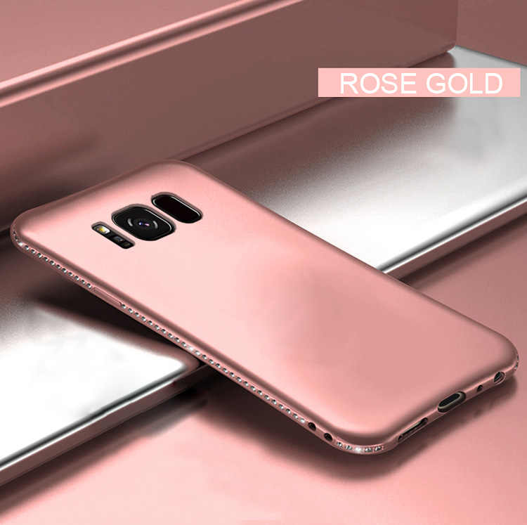 Silicone mềm Ốp Lưng điện thoại Samsung Galaxy S8 S9 S10 Plus S10E S7 Edge Note 8 9 S8Plus S9Plus S7Edge funda kim cương Vỏ Bao Da