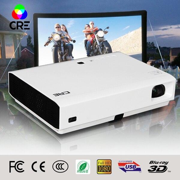 CRE Best Quality 1080P Full HD DLP font b LED b font 3D Android 4 4