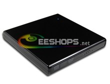 External DVD Burner for HP Acer Lenovo Ultrabook USB Portable Optical Drive Dual Layer 8X DVD RW 24X CD Writer Piano Black Case