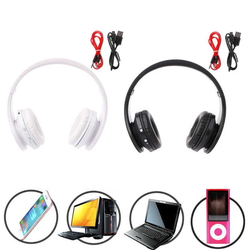 OOTDTY Headphone Earphone Foldable Bluetooth Wireless Headset Wired Stereo On Ear With Microphone rock y10 stereo headphone earphone microphone stereo bass wired headset for music computer game with mic