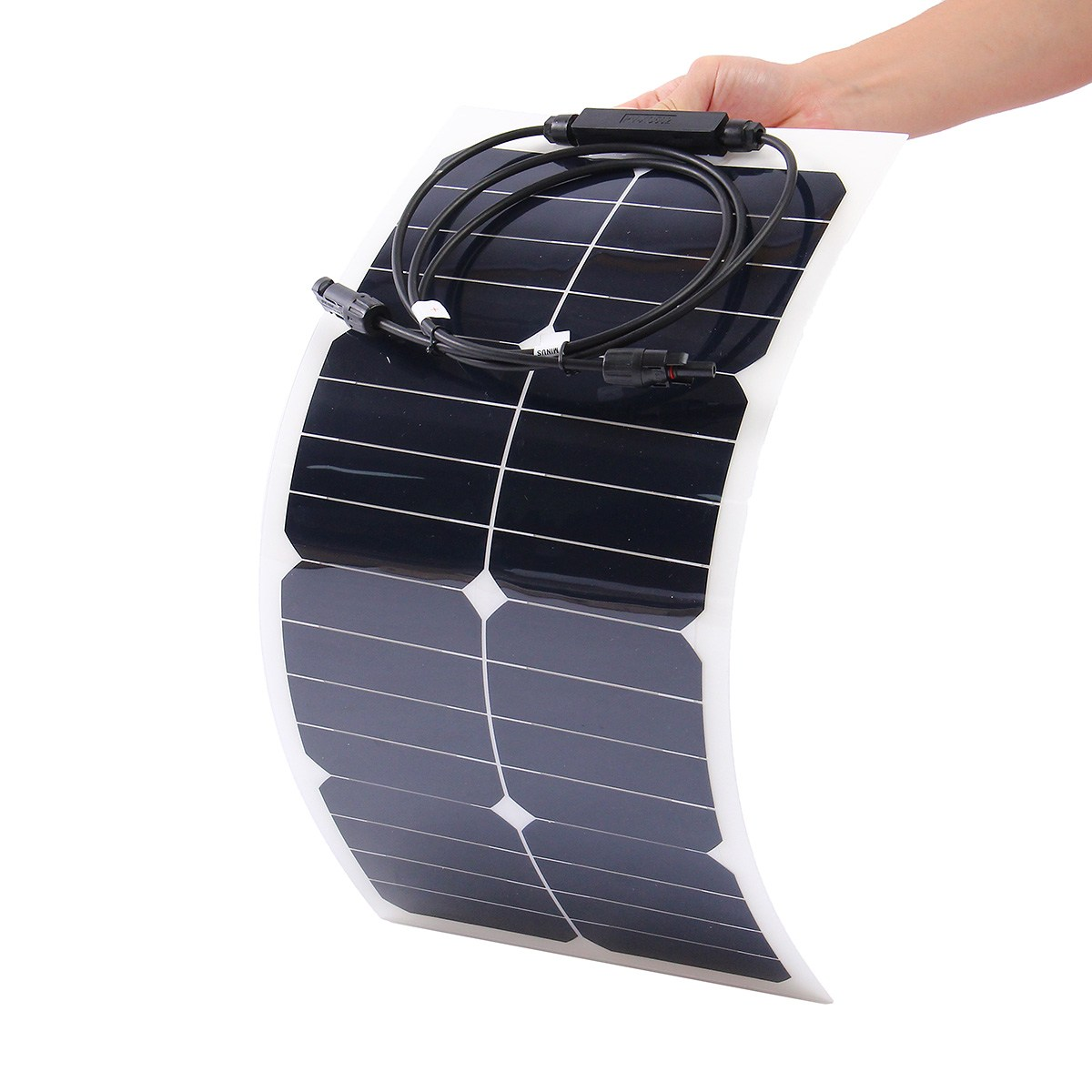 KINCO 25W 18V Semi Flexible Monocrystalline Sunpower Solar Panels DIY High Conversion Efficiency Solar Battery For Car Battery sp 36 120w 12v semi flexible monocrystalline solar panel waterproof high conversion efficiency for rv boat car 1 5m cable