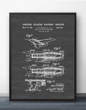 Jet engine патент винтажный план самолета настенная живопись