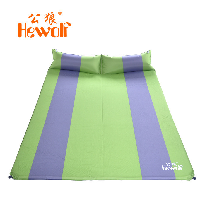 Have An Inquiring Mind Hewolf High Quality Double Person Ultralight 3 Cm Thick Camping Outdoor Beach Inflatable Mat