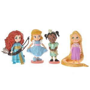Image 4 - 11pcs 8 10 ซม.น่ารักเจ้าหญิงหิมะสีขาว & Belle & Rapunzel & Ariel ตัวเลขการกระทำตุ๊กตาตุ๊กตา