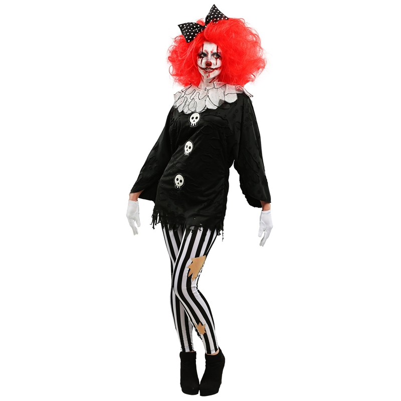e517c15977d8a US $36.09 5% OFF Adult Frightfull Circus Party Clown Womens Costume Creepy  Skull Dressing Up Sure To Scare Your Friends Silly This Halloween on ...
