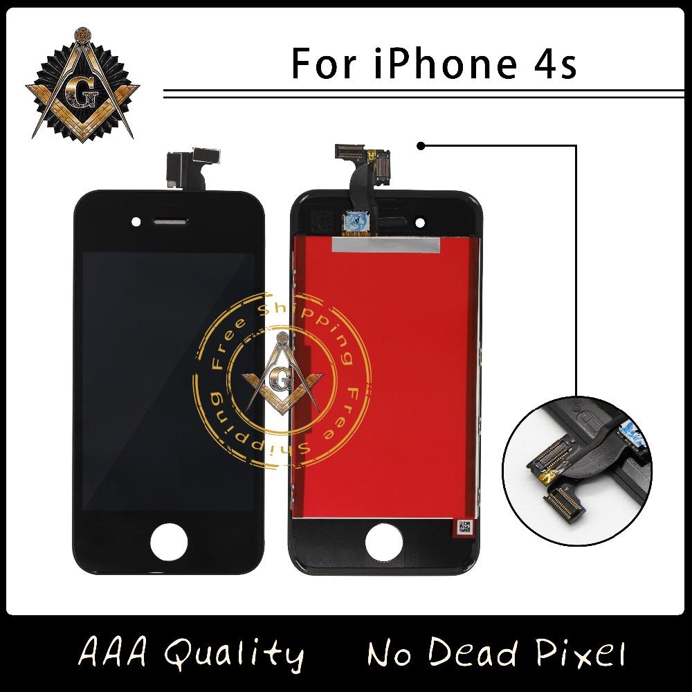 Prix pour 10 pcs/lot haute qualité écran pour iphone 4s lcd assemblée livraison gratuite par dhl