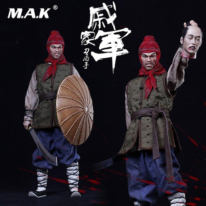 On Sale KLG012 1/6 scale The Ming Dynasty Series Qi Jiajun Shield hand knife Male Action Figure Full Set Figure ножницы 22601 dynasty cc35 фил 6