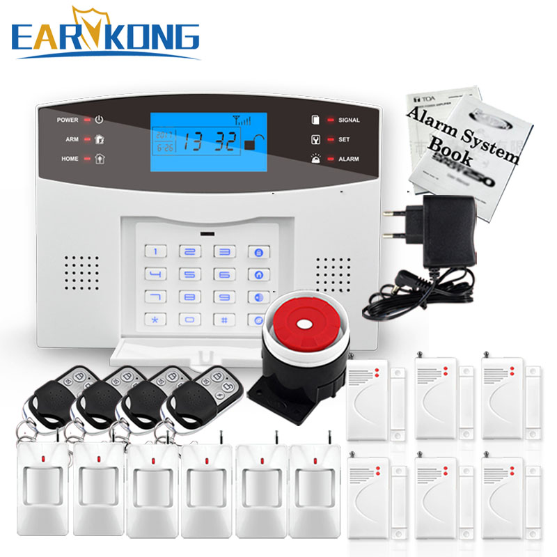 Big Promotions! English Russian Spanish French Italian Voice Wireless GSM Alarm System Home Security Alarm Systems LCD Keyboard