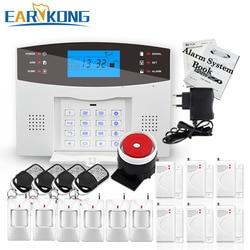 De grandes Promotions! Anglais russe espagnol français italien voix sans fil GSM système d'alarme systèmes d'alarme de sécurité à domicile clavier LCD