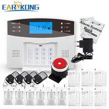 Big Promotions! Englisch Russisch Spanisch Französisch Italienisch Sprach Drahtlose GSM Alarm system Home security Alarm systeme LCD Tastatur