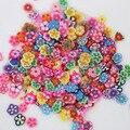 2016 Caliente 2016 Nueva Arrival1000X Rebanadas la Arcilla del Polímero Del Arte Del Clavo 3D Flor de La Fruta DIY Decoración Pegatina 8LVS