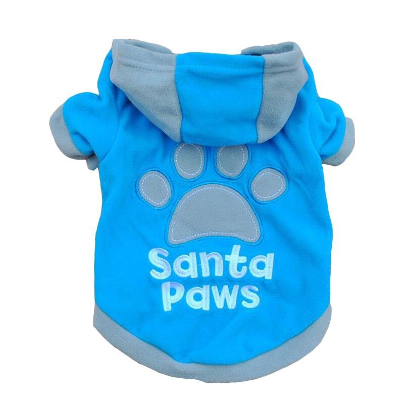 Factory Price! Large Puppy Pet Dogs Cat Hoodie Fleece Sweater Sweatshirt Coat Footprint Printed Clothes