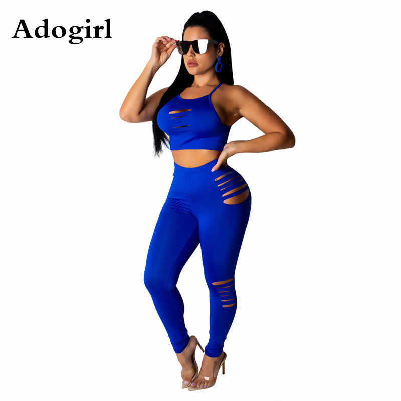 New Women Long Sleeves Solid Casual Club Sports Long Pants Set Two Piece Bodycon
